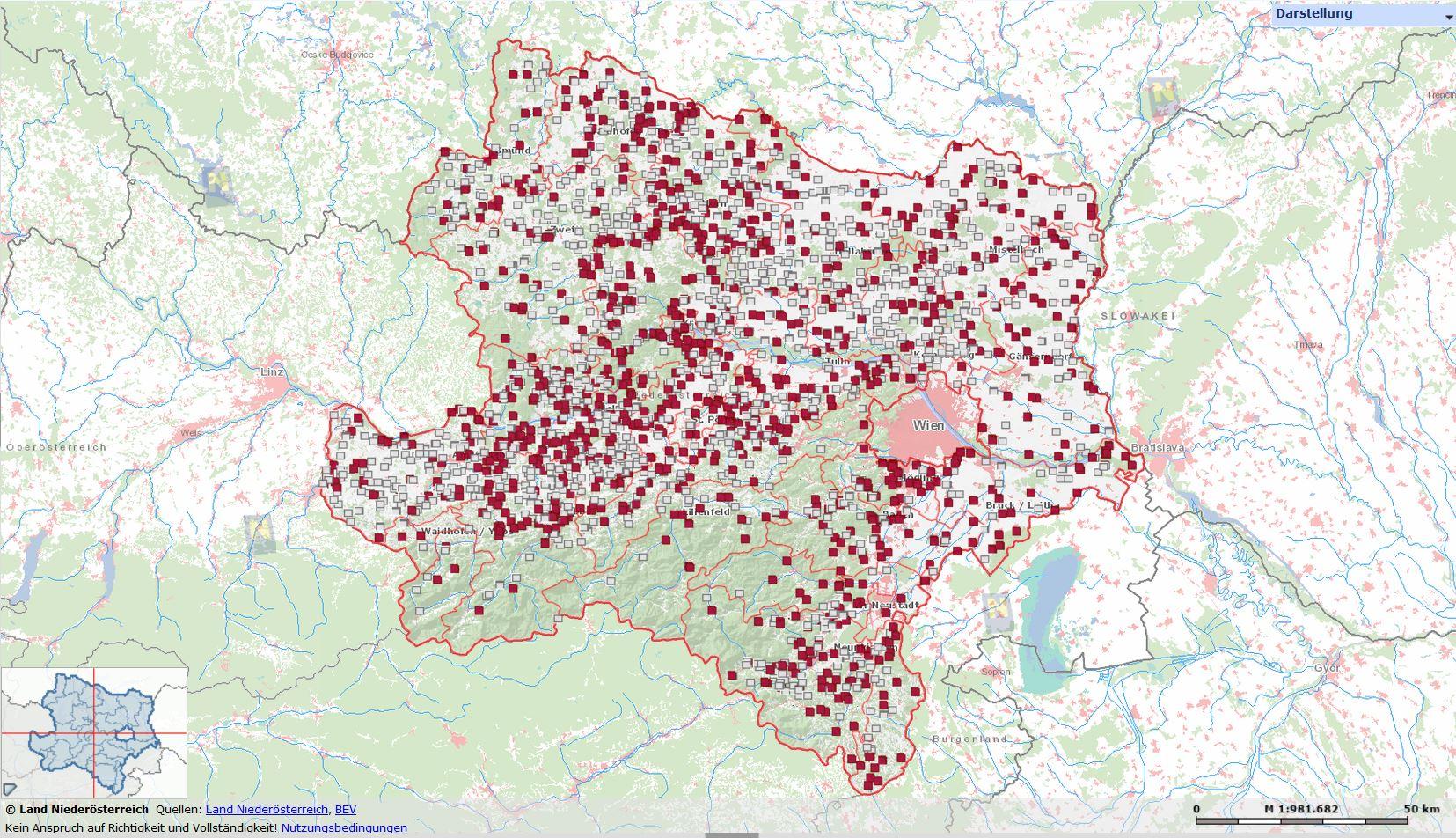 Darstellung der Adelssitze im Digitalen Atlas des Landes Niederösterreich: https://atlas.noe.gv.at/